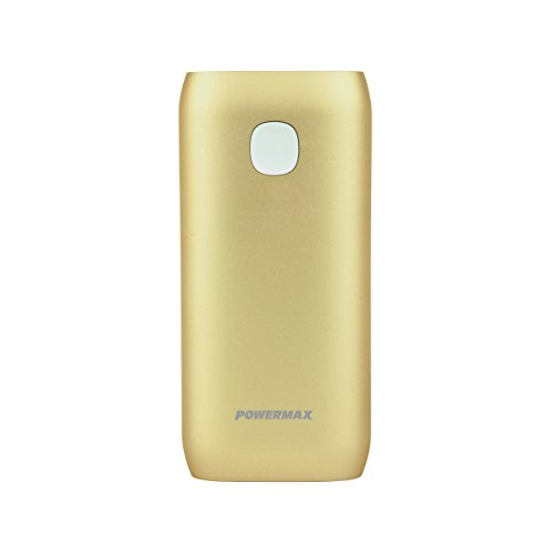 Powermax USA Quick Charge Powerpack 5600mAh Portable External Battery Charger for Smartphones, Cameras, Games, Tablets and More, Gold