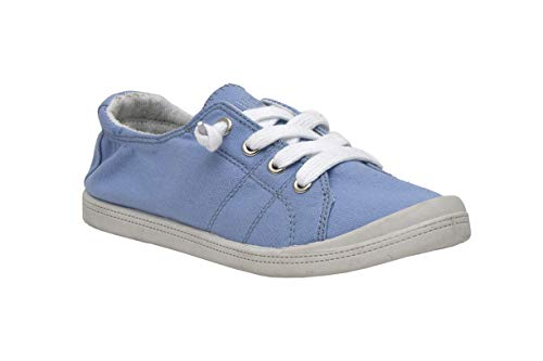 Dunes Sport Women's Reesa Canvas Sneaker, Pale Blue, 8 ()