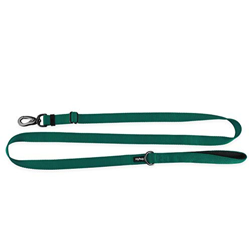Premium Upgraded Adjustable 6 Feet Leash with Comfort Neoprene Lined Handle - for Giant Large Medium Breeds Dogs Walking Professional Training Daily Use.(Large,Dark Green)
