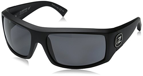 VonZipper Clutch Polarized Rectangular Sunglasses,Black Satin,One - Sunglasses Clutch Von Zipper