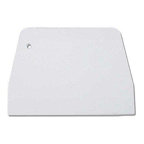 Plastic Trapezoidal Cream Cake Scraper Pastry Pizza Dough Cutting Board for Kitchen, White