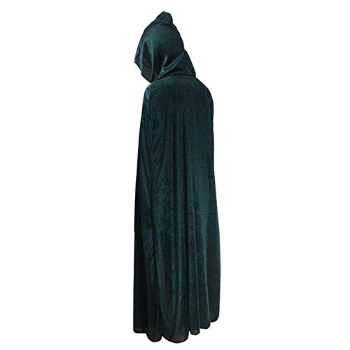 Disfraces De Halloween Cos Capa Negro Adulto Horror Muerte Vampiro Bruja Manto,Green