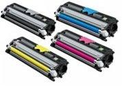 Konica Minolta MagiColor 1600, 1650EN, 1680MF Compatible Toner Cartridge Value Bundle(Full Set of K/C/M/Y), Office Central