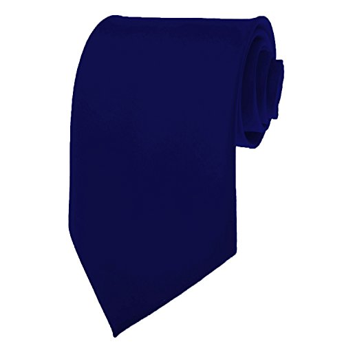 Navy Blue Necktie SOLID Mens Neck Tie Satin by K. Alexander (Solid Tie)