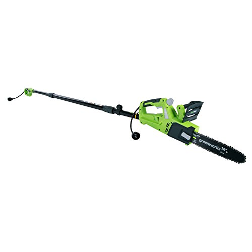 "Greenworks 10"" 6 Amp Corded Chainsaw with Pole Saw Attachment PSCS06B00"