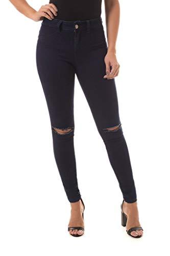 Calça Jeans Denuncia Mid Rise Skinny Azul 48