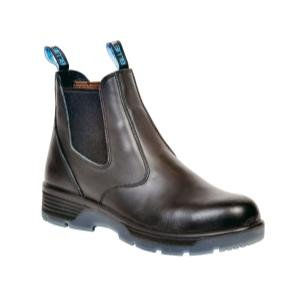 Black 6'' Slip On Composite Toe Safety Boot, Size 13 by Blue Tongue