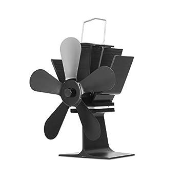 Wenwenzui-ES Ventilador de Estufa Alimentado por Calor amigable con el Medio Ambiente Ventilador de Estufa de 5 Cuchillas para Estufa de leña: Amazon.es: ...