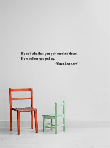 Vince Lombardi Quote Home Living Room Bedroom Decor Discounted Sale Item 22