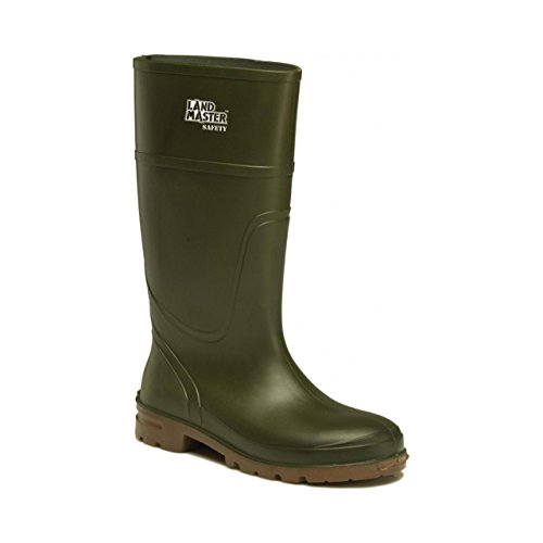 Dickies Landmaster da uomo, con punta e suola di sicurezza, Stivali di gomma in PVC Verde