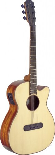 CFI LISMORE Series Mini-Jumbo Cutaway Acoustic-Electric Guitar with FISHMAN Electronics ()