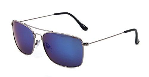 Lucky D923gun59 Aviator Sunglasses, Gunmetal, 59 - Eyewear Lucky