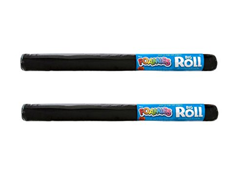 Darice 2mm Foamie Roll, 36-Inch by 60-Inch, Black (2 Pack) -