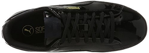 Puma Damen Vikky Platform Patent Sneaker Schwarz (nero-nero)