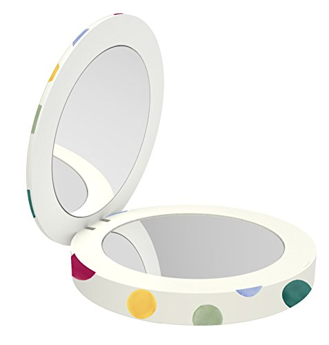 Featuring Designer Vanity - VQ Coco Compact Mirror & Powerbank with Daylight LED Light Vanity Rim, Integrated Lightning Cable Featuring Fast Charge Technology – Emma Bridgewater Polka Dot
