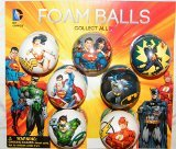 Batman, Superman, Justice League DC Superhero Figure Soft Foam Ball Toys Collection of 12 by Super Hero -