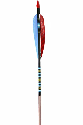 Rose City Archery Port Orford Cedar Fancy Arrows with 5-Inch Length Parabolic Fletch