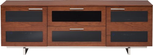 BDI Avion 8927 Triple Wide Entertainment Cabinet, Natural Stained Cherry (Cherry Cabinet Bdi)