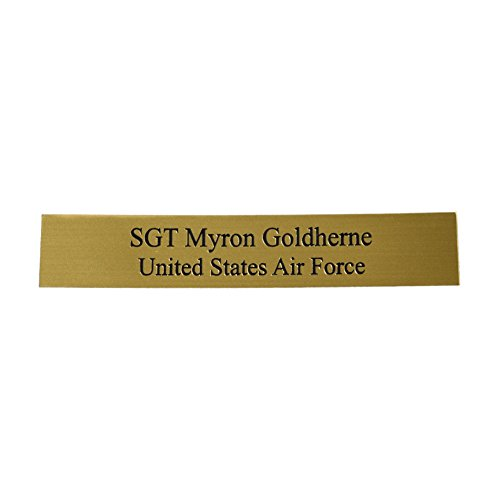Personalized Name Plate with Two Lines of Text