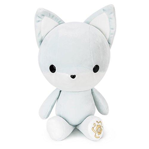 Bellzi Gray Fox Stuffed Animal Plush Toy Adorable Toy Import It All