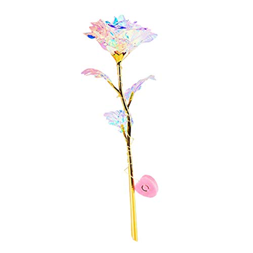 YJYdada Creative Colorful Luminous Rose Artificial LED Light Flower Unique Gifts for Girls (A)