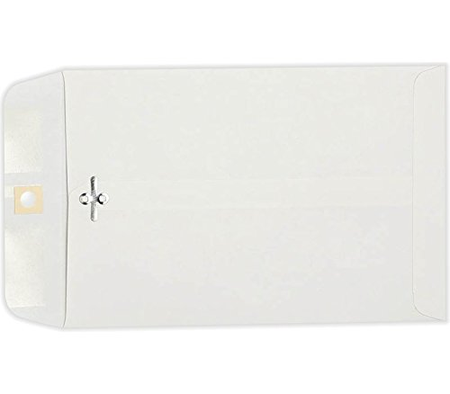 6 x 9 Clasp Envelopes - 28lb. Bright White (50 Qty) | Perfect for Mailing, Filing, or Handing Out | 28lb Paper | 1602-50 by Envelopes.com