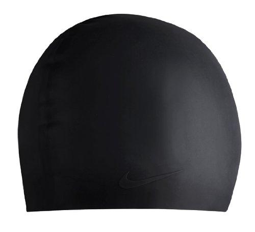 Embossed Spandex Hat - Nike Solid Silicone Swim Cap (Black)