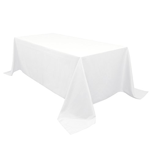 White Silk Cloth (Silk Love tablecloths 90 x 132-Inch Rectangular Polyester Tablecloth White)