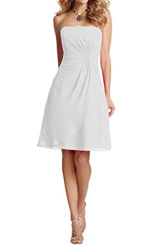 Brautjungfernkleider Kurz Weiß A Traegerlos Braut Einfach Abendkleider Partykleider Abschlussballkleider La Linie mia xSwa0A8qnZ