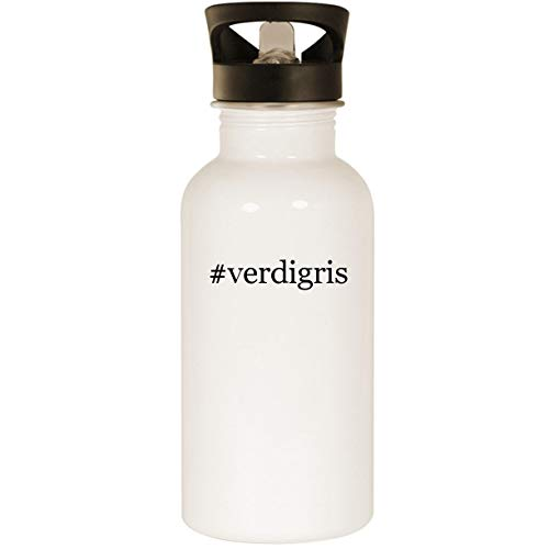 #verdigris - Stainless Steel Hashtag 20oz Road Ready Water Bottle, White
