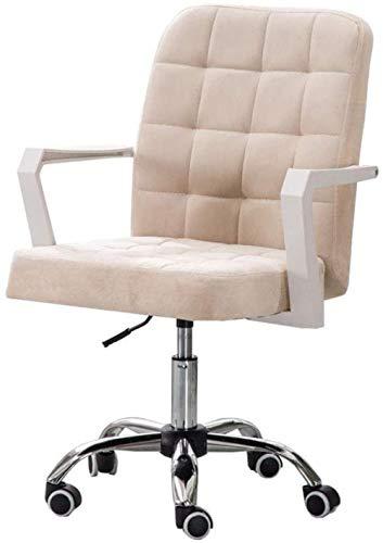 Sillon de tela con respaldo medio, silla ajustable, escritorio de ordenador, silla giratoria, patas de acero para oficina, sala de estudio, silla taburete