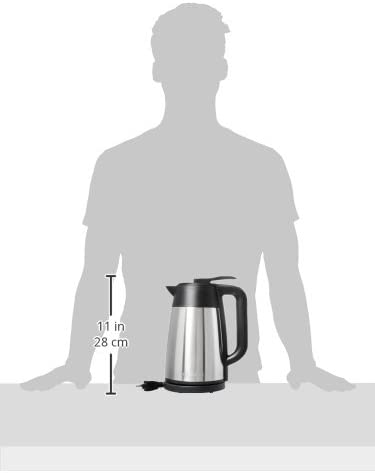 7+ Cup 1.7L//1.8qt Heat Retaining Vacuum Seal Auto Shut Off /& Boil Dry Protection Chefman Stainless Steel Premium Grade Carafe Style w//Digital Temp Display