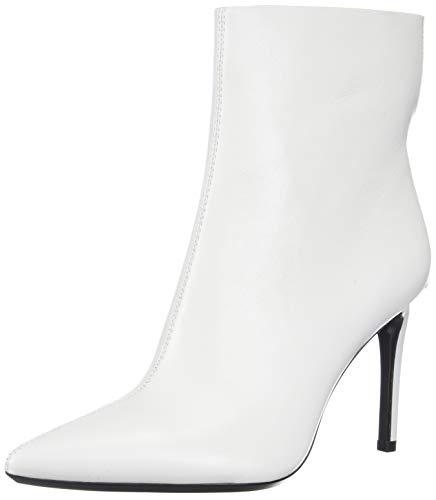 Calvin Klein Women's Revel Ankle Boot, Platinum White, 7 M US