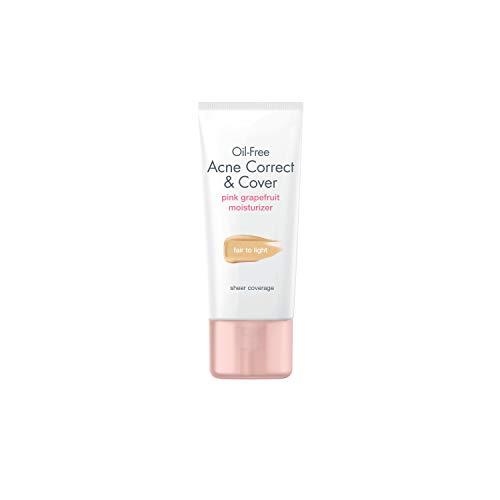 Neutrogena Acne Correct & Cover Oil-Free Moisturizer Pink Grapefruit 1.7 FL OZ(50ml)