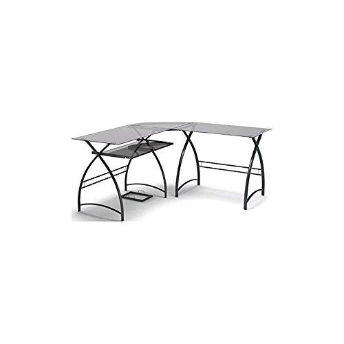 - Gibson Living Stillman L Shaped Desk in Black