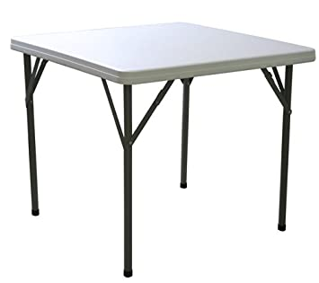 Merveilleux FT2 2ft 10in Square Folding Table With Fold Away Legs, 2 Year Guarantee