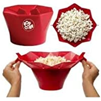 JERN Silicone Microwave Popcorn Popper (Red)