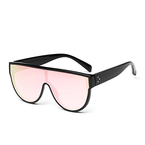 Pink Uv400 Sol Espejo Square Enormes TIANLIANG04 Unas Rosa De Gafas Sol Mujer Negro C4 C4 De Mirror Gafas Rojo Sombras UqcOwZP
