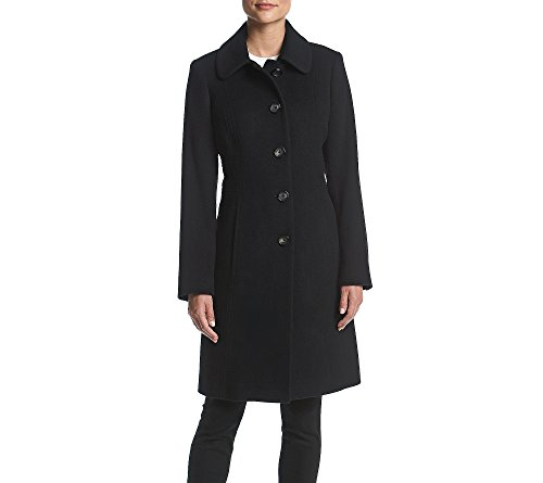 Anne Klein Walker Button Jacket Black XX-Large - Anne Klein Cashmere