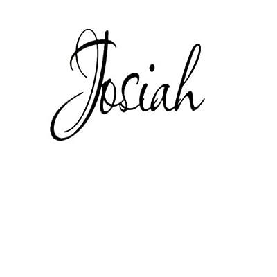 HUANYI Josiah Girl Name boy Name Room Name Wall Quote Art Vinyl Decal Sticker: Home & Kitchen