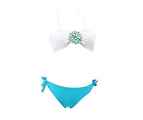 Donna reggiseno Blu Diviso bikini Bagno S Dimensione Da colore Costume Oudan n0UxWYXW
