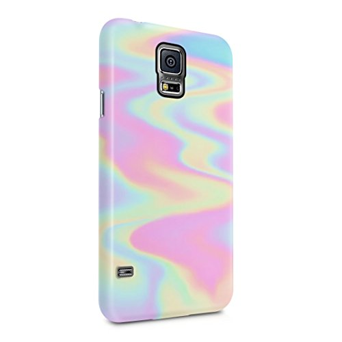 Holographic Print Tie Dye Rainbow Colorful Pastel Rad Indie Boho Tumblr Plastic Phone Snap On Back Case Cover Shell Compatible with Samsung Galaxy S5 Mini (Case Galaxy S5 Tie Dye)