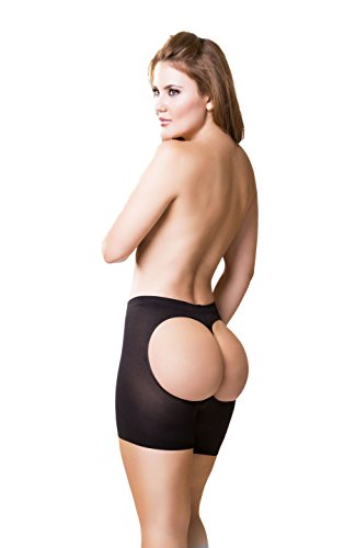Real Curvy Women Faja Colombiana Black Butt Lifter Tummy Control Body Enhancer, 38