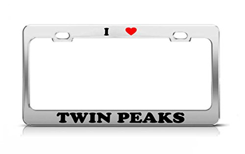 - I HEART TWIN PEAKS Idaho Volcanoes Metal Auto License Plate Frame Tag Holder