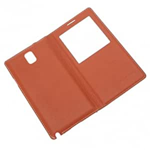 Genuine Leather Case With Dormancy Function For Samsung Note3 N9000 @ Color==Coffee
