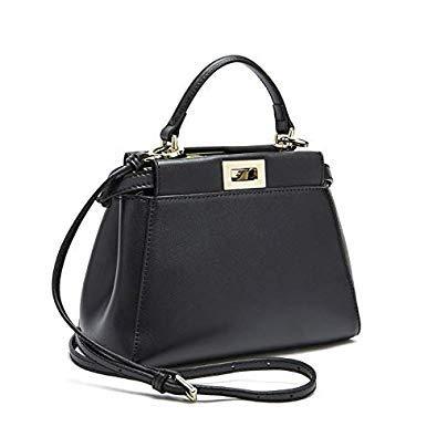 Bloomerang Women Messenger Bags Peekaboo Bag Handbags 2017 Luxury Designer G Leather High Quality Leg Shoulder Bag Crossbody Tote color Black Size 18cm no Logo