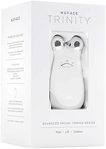 NuFACE Advanced Facial Toning Kit | Trinity Facial Trainer Device + Hydrating Leave-On Gel Primer | Skin Care Device to Lift Contour Tone Skin + Reduce Look of Wrinkles | FDA-Cleared At-Home System