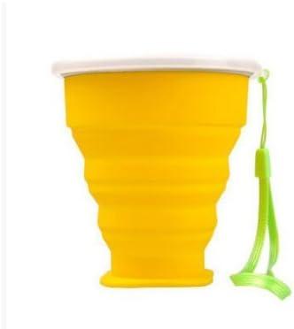 Jellbaby Portable silicone pieghevole tazza da viaggio per bicchiere da Iking 9*8*4.5cm Blue