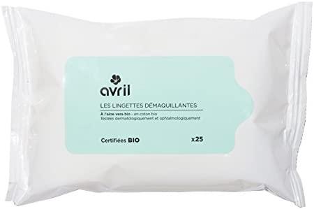 Avril - Toallitas desmaquillantes certificadas Bio, 25 unidades ...