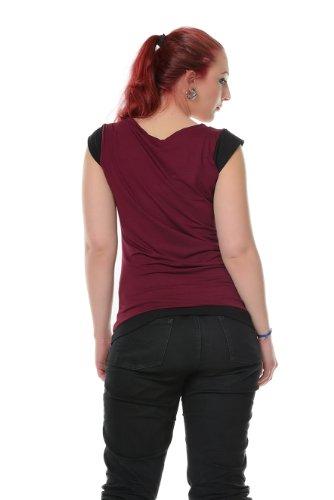 Camiseta cuello redondo 3elfen con T TrwqST1x